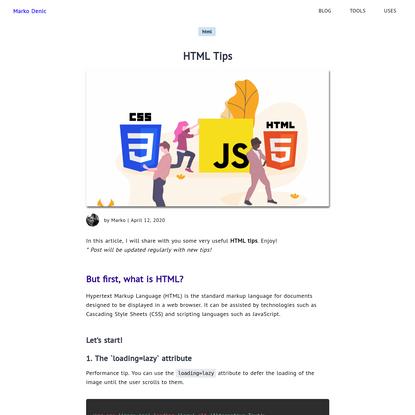 HTML Tips