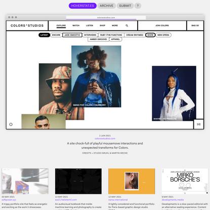 HOVERSTAT.ES   The home of alternative web-design.