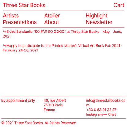 MENU — Three Star Books