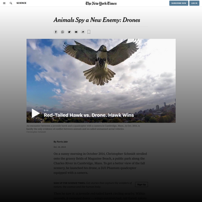 Animals Spy a New Enemy: Drones (Published 2015)