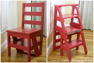 chair that folds into a step ladder