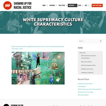 White Supremacy Culture Characteristics - SURJ