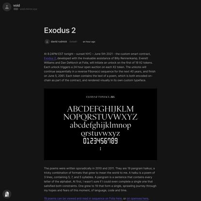 Exodus 2 — Mirror