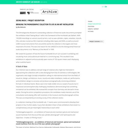 Project Description-Humboldt-Forum