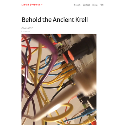 Behold the Ancient Krell