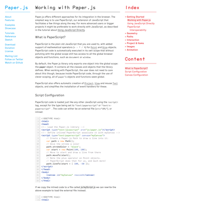 Paper.js — Working with Paper.js