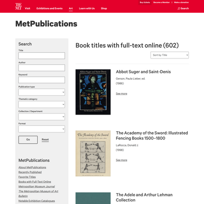 Books with Full-Text Online   MetPublications   The Metropolitan Museum of Art