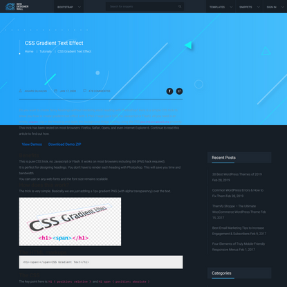 CSS Gradient Text Effect - Web Designer Wall