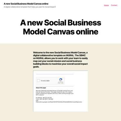 A new Social Business Model Canvas online – A digital collaborative template that helps you plan for Social Impact!