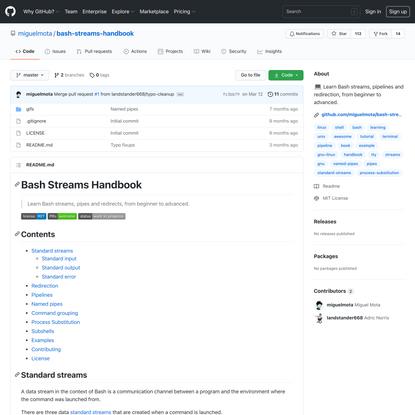 miguelmota/bash-streams-handbook