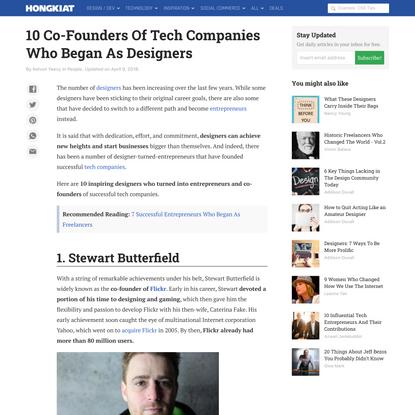 10 Co-Founders Of Tech Companies Who Began As Designers - Hongkiat