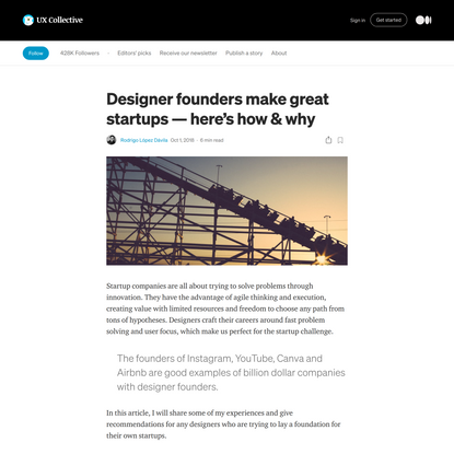 Designer founders make great startups — here's how & why