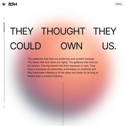 Manifesto | Zora