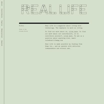 Sick of Myself — Real Life