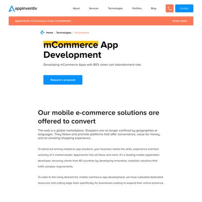 mCommerce App Development Company in NY, USA | Appinventiv