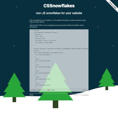 CSSnowflakes!