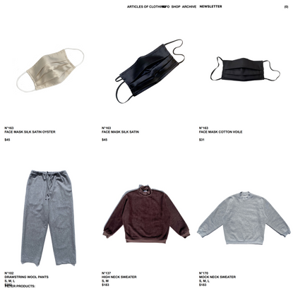 Articles of Clothing