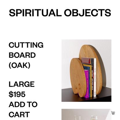 Cutting Board (oak) — Spiritual Objects