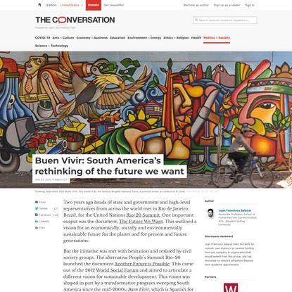 Buen Vivir: South America's rethinking of the future we want