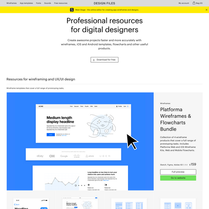 Mobile App Templates, Wireframes, Flowcharts for Sketch, Figma and XD — Design Files