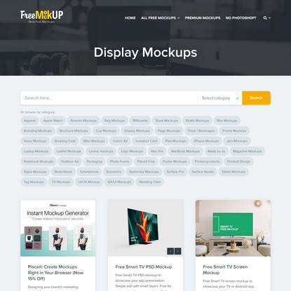 Display Mockups   Free Mockup