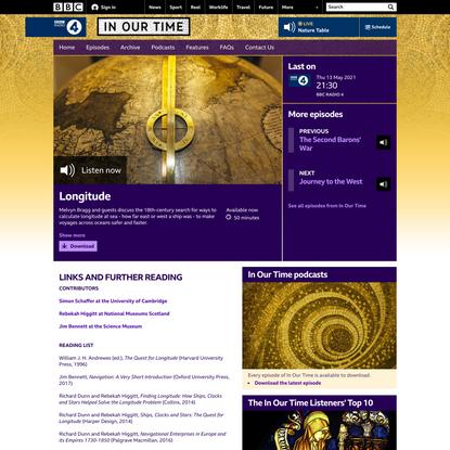 BBC Radio 4 - In Our Time, Longitude