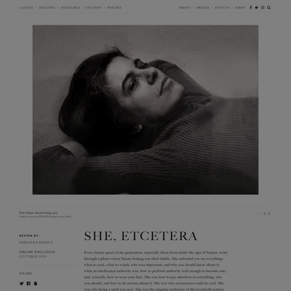 She, Etcetera - The White Review