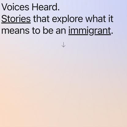Home | Voices Heard