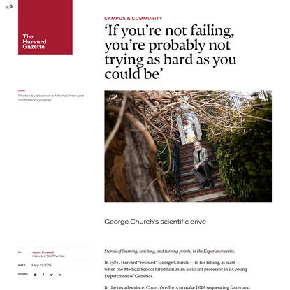 'If you're not failing, you're probably not trying as hard as you could be'