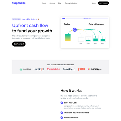 Capchase - Upfront cashflow to fund your growth