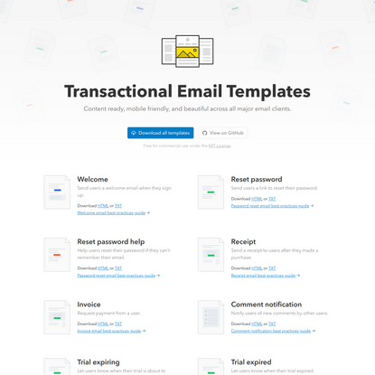 Transactional Email Templates from Postmark