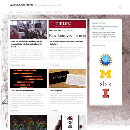 Auditing Algorithms – Adding Accountability to Automated Authority