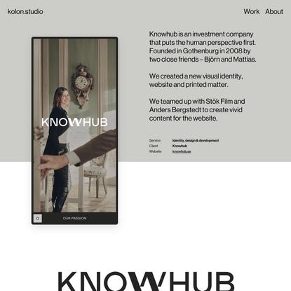 kolon.studio – Knowhub