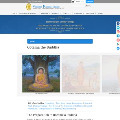 Gotama the Buddha   Vipassana Research Institute
