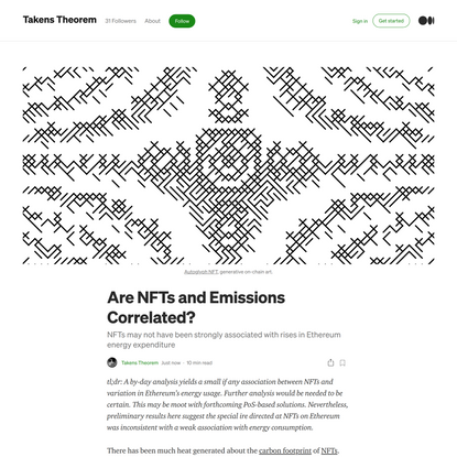 Are NFTs and Emissions Correlated?