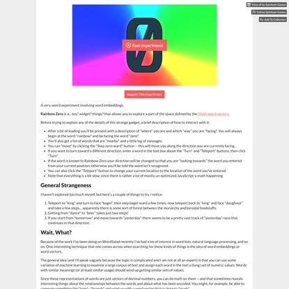 Rainbow Zero by Spinfoam Games