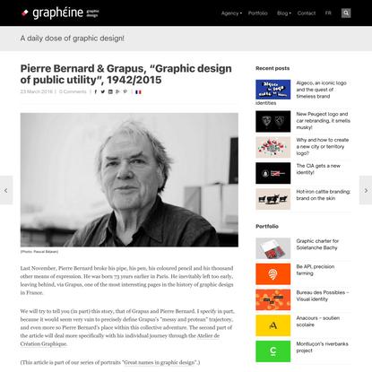 "Pierre Bernard &Grapus, ""Graphic design of public utility"", 1942/2015 - Graphéine"