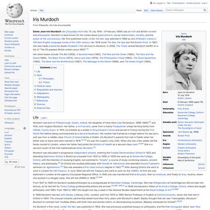 Iris Murdoch - Wikipedia