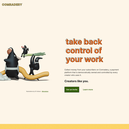 Comradery - cooperatively owned subscription platform