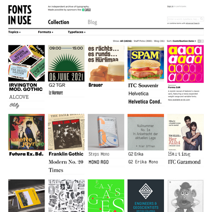 Fonts In Use – Type at work in the real world.
