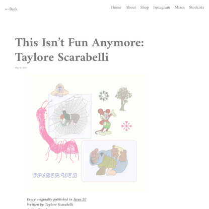 This Isn't Fun Anymore: Taylore Scarabelli – The Editorial Magazine
