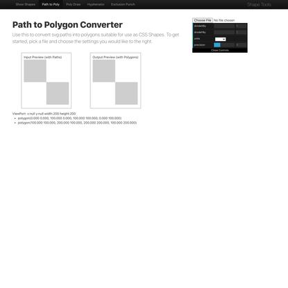 Path to Polygon Converter