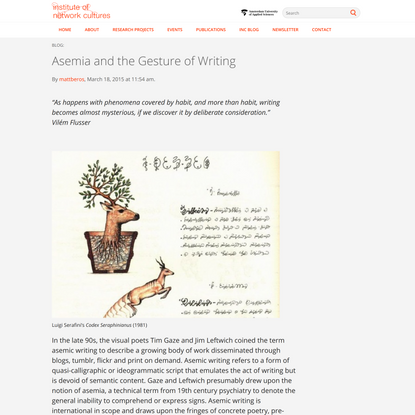 Asemia and the Gesture of Writing