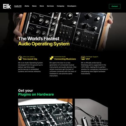 Audio OS - Elk Audio OS
