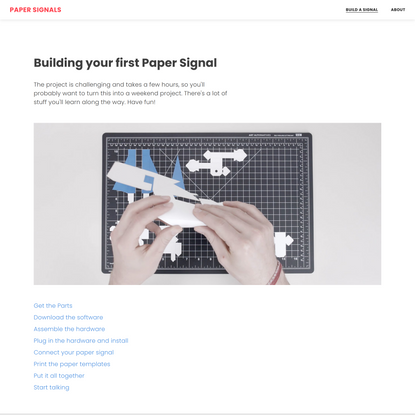 Paper Signals: A Voice Experiment