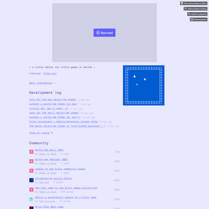 Bitsy Game Maker by Adam Le Doux