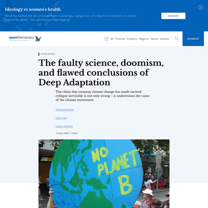 The faulty science, doomism, and flawed conclusions of Deep Adaptation