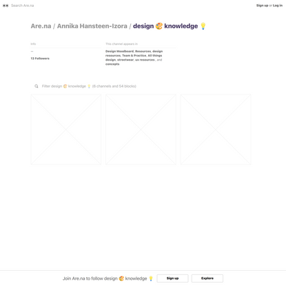 design 🎨 knowledge 💡 — Are.na
