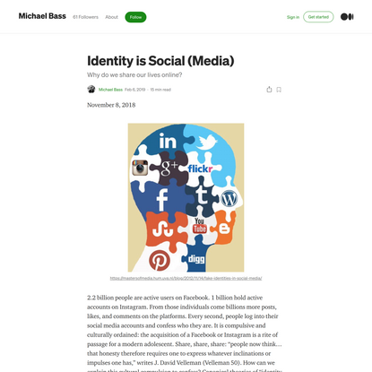 Identity is Social (Media)
