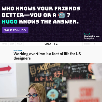 Working overtime is a fact of life for US designers